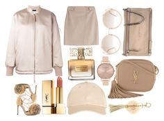 """Nude Gold"" by chrismateer on Polyvore featuring Privileged, Johnny Loves Rosie, Yves Saint Laurent, Givenchy, Miss Selfridge, Chloé, T By Alexander Wang, Steffen Schraut and Olivia Burton"