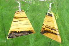 Spalted Oak Earrings  OAK 001 by OzarkCraftWood on Etsy