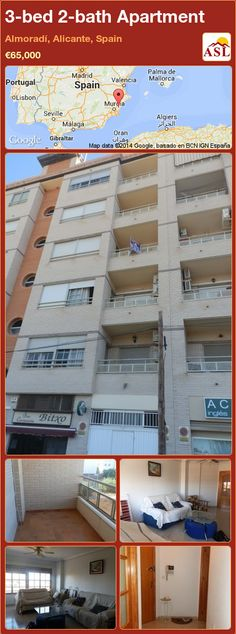 3-bed 2-bath Apartment in Almoradí, Alicante, Spain ►€65,000 #PropertyForSaleInSpain