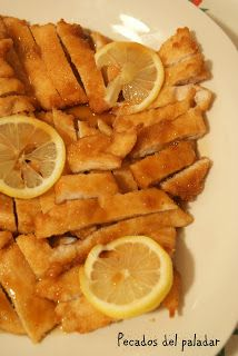 Who has not ever eaten lemon chicken in a restaurant .- Who has not ever eaten lemon chicken in a Chinese restaurant? I have always loved this recipe and some time ago I thought that … - Snack Recipes, Dessert Recipes, Cooking Recipes, Snacks, Pollo Chicken, Lemon Chicken, Asian Chicken Recipes, Good Food, Yummy Food