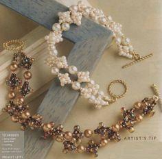 two beautiful beaded bracelet