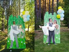 Our wedding carnival cutout!