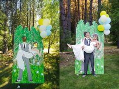 Our wedding carnival cutout!