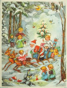 The tradition of advent calendars can be traced back to the 19th century. One of the early practices was to put a chalk mark on a door for each day in December till Christmas Eve.