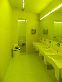 yellow...toilets(!) by karen_heggheim, via Flickr