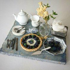 3018.01 Miniature Blackberries Tart ♡ ♡ By Coffee Seed