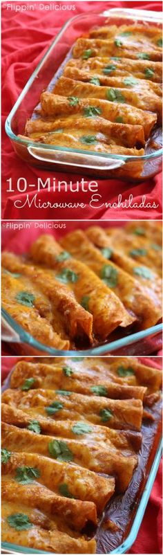 10 Minute Enchiladas made in the microwave! This quick and easy recipe puts a healthy meal on the table for your family in just 10 minutes. Naturally glutenfree enchiladas, made with gluten free enchilad sauce. Gluten Free Recipes For Dinner, Gf Recipes, Foods With Gluten, Mexican Food Recipes, Cooking Recipes, Healthy Recipes, Healthy Microwave Recipes, Microwave Dinners, Healthy Breakfasts