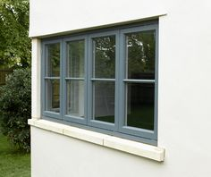 Minimal fuss and simplicity of design: our contemporary windows capture the spirit of the moment with clean, understated lines. Rehau Windows, Grey Windows, Timber Windows, Casement Windows, Sash Windows, House Windows, Contemporary Windows, Modern Properties, Forest House