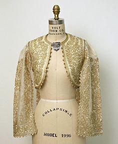 Jacket, Date: 20th century Culture: Turkish Medium: silk, cotton, metallic