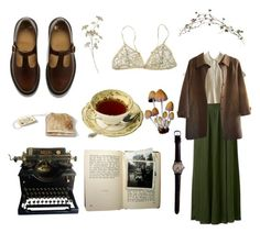 """""""september"""" by veraastridkristina ❤ liked on Polyvore featuring Dr. Martens, Forever 21, Forever New and A.P.C."""