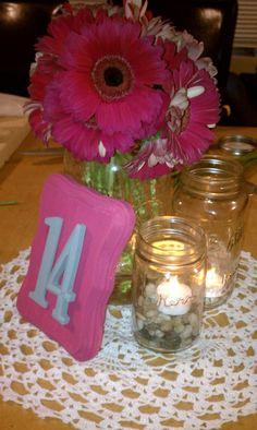 Centerpiece Mock Up :  wedding diy pink Centerpiece