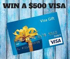Win a $500 Visa Gift Card --- 10 Winners! Netflix Gift Card Codes, Itunes Gift Cards, Visa Gift Card, Free Gift Cards, Roblox Gifts, Free Gift Card Generator, Pre Paid, Thing 1, Code Free