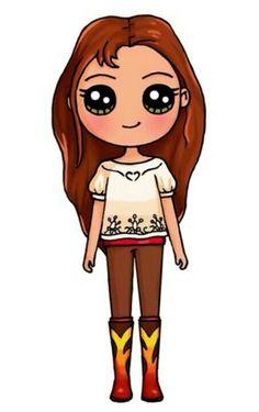 Kawaii é d +, . - Ownnn … Kawaii é d +, Party - Kawaii Disney, Diy Kawaii, Cute Kawaii Girl, Kawaii Art, Cute Drawings Of People, Cute Easy Drawings, Cute Little Drawings, Cute Girl Drawing, Drawing People