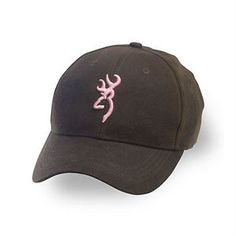 Dura-Wax Solid Color Cap, Brown/Pink - Rugged, water-resistant finish - Adjustable back (velcro) - Color: Brown/Pink - Size: Adult cap adjustable fit