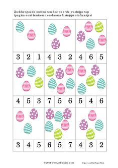 originals ff 30 Easter Activities For Toddlers, Preschool Learning Activities, Numbers Preschool, Preschool Activities, Kids Learning, Crafts For Kids, Easter Worksheets, Preschool Worksheets, Easter Art