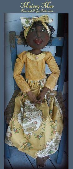 Large 48inch Primitive Folk Art Doll - Maisey Mae - Mailed Pattern. $10.00, via Etsy.