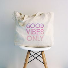 Tote bag, good vibes only tote, canvas tote bag, Beach Tote Bag, shopping bag, grocery bag, canvas bag, cotton canvas tote bag, travel bag