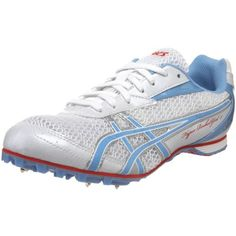 ASICS Womens HyperRocketgirl 5 Track And Field ShoeWhitePeri BlueCherry8 M * Find out more about the great product at the affiliate link Amazon.com on image.