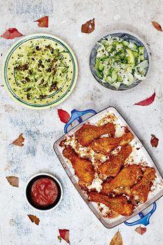 Hemsley + Hemsley share their healthier take on crispy, spicy chicken