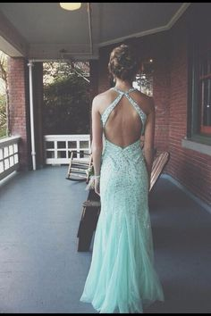 2f1c156a11e Tulle Sequin Backless Long Prom Dresses