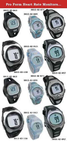 Pro Form Heart Rate Monitors - Pro Trainer COMBO. (SEE AVAILABILITY ABOVE FOR ESTIMATED DELIVERY) - Pro Form Heart Rate Monitors - Pro Trainer COMBO - Pro Form Heart Rate Monitors - Pro Trainer COMBO. Use with or without the included chest belt. Quick Touch technology ensures accurate readings. Includes: recovery timer, calorie counter, time of day/alarm clock & average heart rate. Black/Silver. - Rolyan products are internationally licensed & manufactured for home & clinical use. Most of...