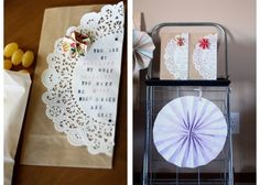 Creative paper bag ideas for party favors.