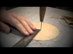 Cutting a leather circle - YouTube
