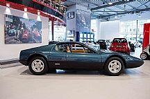 1977 Ferrari 365 GT4 BB (Berlinetta Boxer) in Azurro Blue over Crema.