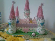 torta castello per 1 anno della mia principessa