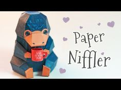 PAPERMAU: Fantastic Beasts: The Crimes Of Grindelwald - Newton Scamander's Niffler Paper Toy - by Tiny Craft World