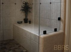 tile shower bench showers