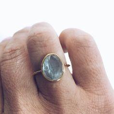 Semi Precious Aquamarine Ring - local eclectic - 7