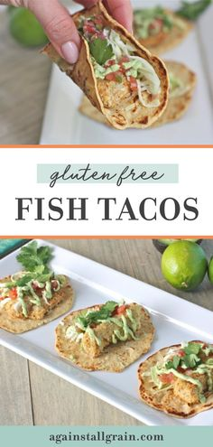 My husband is a self-proclaimed gluten free fish taco connoisseur. Its debatable if that is true, but he does approve of these gluten free fish tacos. Make these keto-friendly tacos for dinner tonight! #glutenfreefishtacos