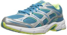 AVIA Women's Avi-Forte Running Shoe, Malibu Teal/Chrome Silver/Teal Blast/Wild Lime, 8.5 W US. Lightweight breathable air mesh upper with stitched leather and synthetic leather. Compression molded EVA/Cantilever midsole. Molded removable GELfōm sockliner. Rubber outsole with exposed deep flex groves.