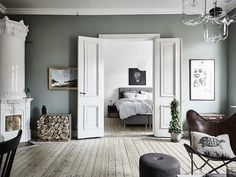 Fantastic Deco Chambre Vert De Gris that you must know, You're in good company if you're looking for Deco Chambre Vert De Gris New Interior Design, Scandinavian Interior Design, Scandinavian Apartment, Scandinavian Home, Swedish Decor, Gravity Home, Home Trends, Living Room Bedroom, Gray Bedroom