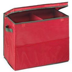 Homz Homz Gift Bag Storage Box, Red with Green Trim Christmas Tree Bag, Christmas Ornament Storage, Ornament Storage Box, Wreath Storage, Holiday Storage, Colorful Christmas Tree, Ornaments, Outdoor Toy Storage, Diy Toy Storage