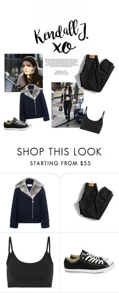 """""""Kendall"""" by indiemess1 ❤ liked on Polyvore featuring xO Design, Estée Lauder, Baldwin, Carven, Levi's, Helmut Lang and Converse"""
