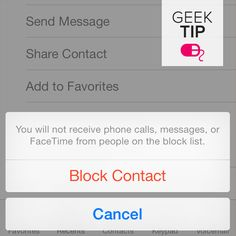 Block calls and texts from  certain contacts in the new iPhone 5S and iOS 7