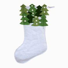 Amongst the green pines Wool Felt Stocking