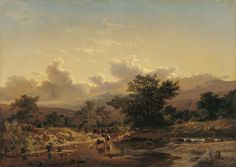 Carlos de Haes (1829-1898) - Landscape with Drove of Cows, 1859