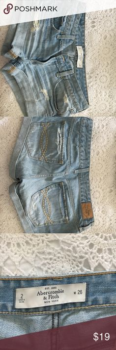 Abercrombie jeans Abercrombie & Fitch Shorts width 26  Distressed style  Short shorts Abercrombie & Fitch Shorts Skorts