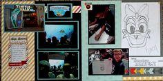 Disney California Adventure Turtle Talk Animation Studio Scrapbook Page - 12x12 Layout