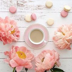 "2,377 Likes, 40 Comments - #naughtyteas ☕️🍰🌸 (@naughtyteas) on Instagram: ""Peachy pink beauties and delicious macaroons because Friday needs to be celebrated.. and so what if…"""