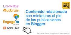 Contenido relacionado con miniaturas al pie de las publicaciones en Blogger