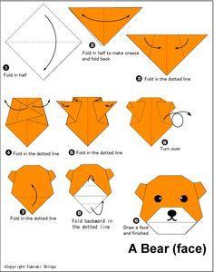 Pig (face) - Easy Origami For Kids | Kids crafts | Pinterest ...