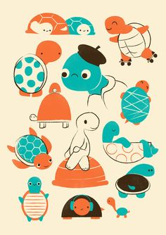 Poster | TURTLES von Jay Fleck | more posters at http://moreposter.de
