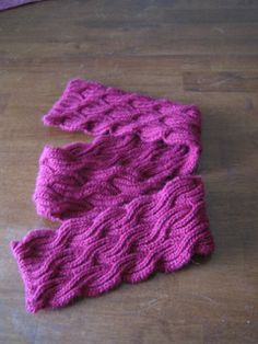 Free reversible scarf pattern, worsted weight, size 7 needles