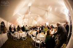 Wedding reception inside our 60x80 high peak tent (that's SIX high peaks!) www.bigskyrents.com