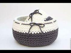 Set de Baño Tejida en Crochet Con Trapillo - YouTube Crochet Bowl, Diy Crochet, Crochet Crafts, Crochet Projects, Crochet Hook Case, Crochet Hooks, Cotton Cord, Crochet Storage, Knit Basket