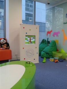 Interaktywny kącik dla dzieci w klinice. Mądra rozrywka i wizyta już nie jest straszna.